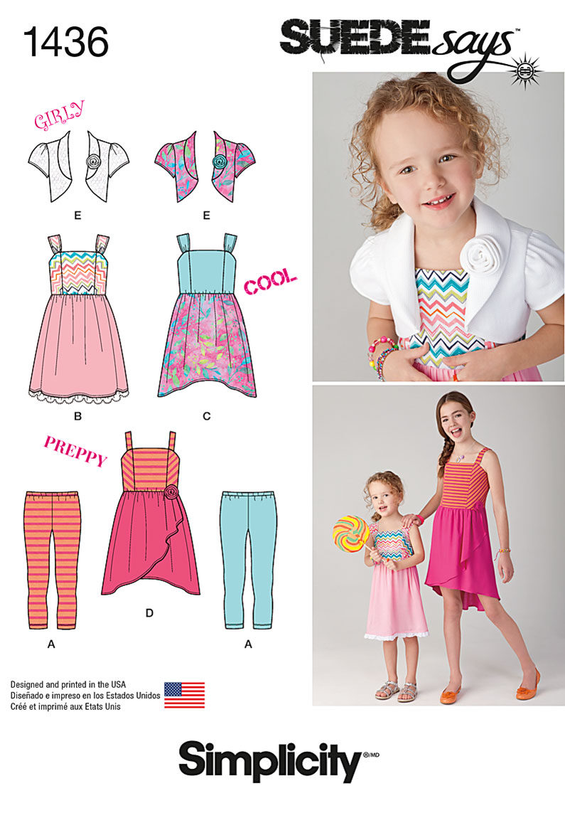 Simplicity Pattern 1436HH 3-4-5-6 -Child Girl Dresses