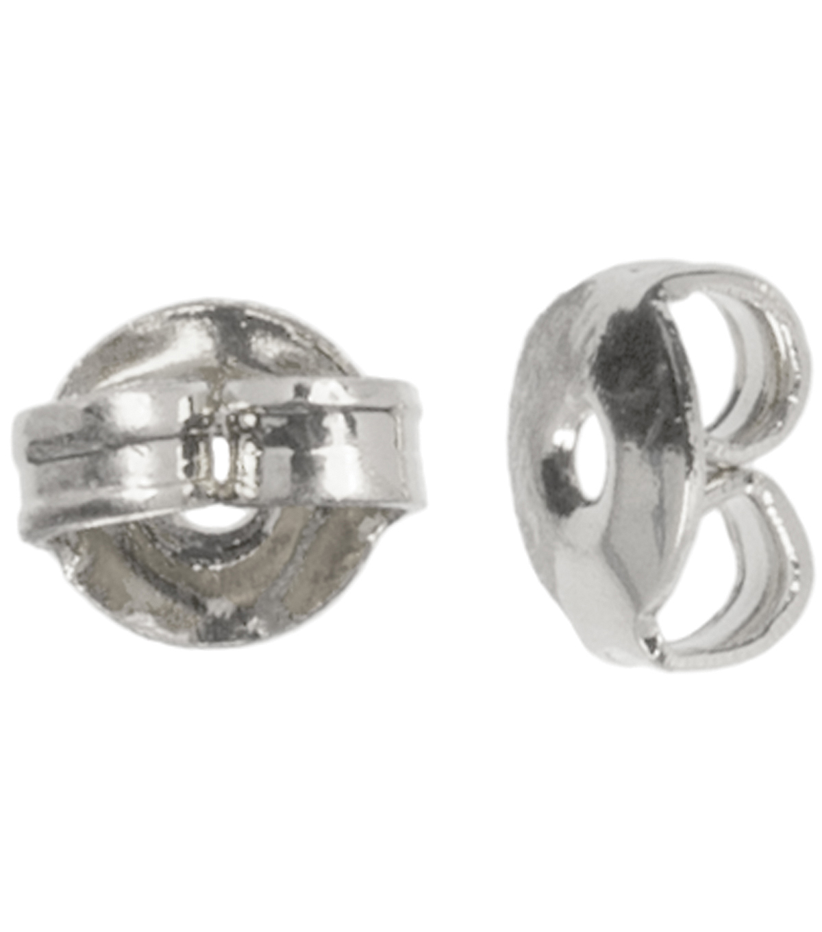 Silver Plated Metal Findings-5mm Earring Nut 30/Pkg