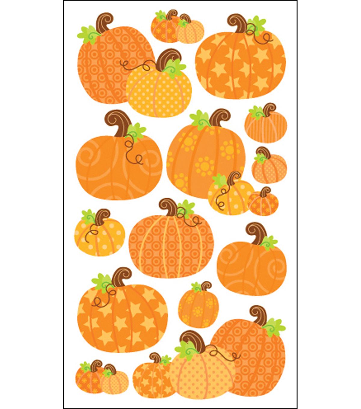 Sticko Harvest Stickers-Pumpkins