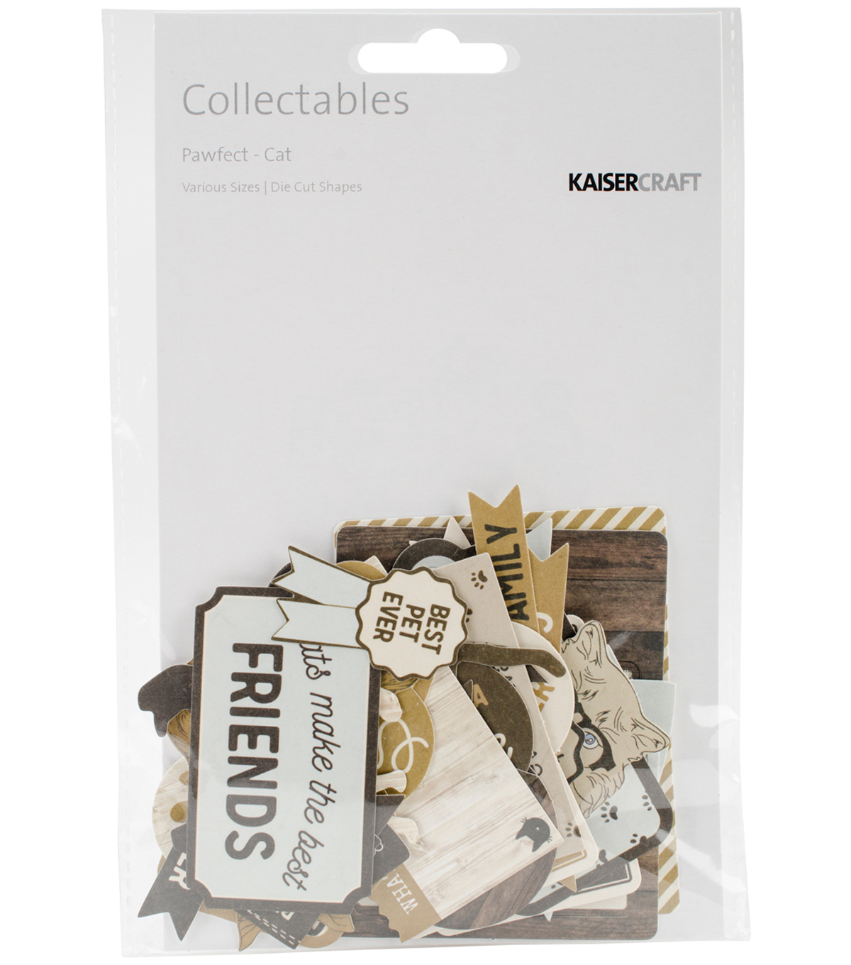 Kaisercraft Pawfect Collectables Cardstock Die-Cuts-Cat