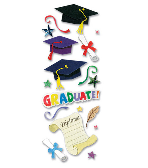 A Touch of Jolee\u0027s Dimensional Stickers-Graduation