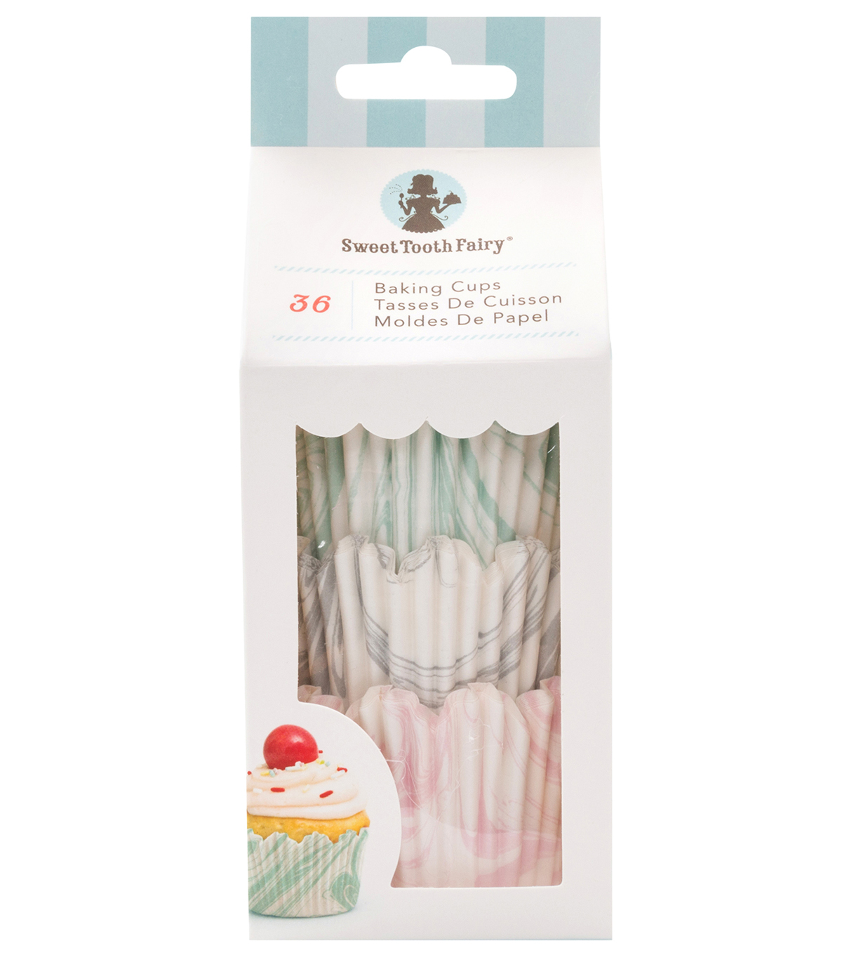 The Sweet Tooth Fairy 36 pk Baking Cups-Marble