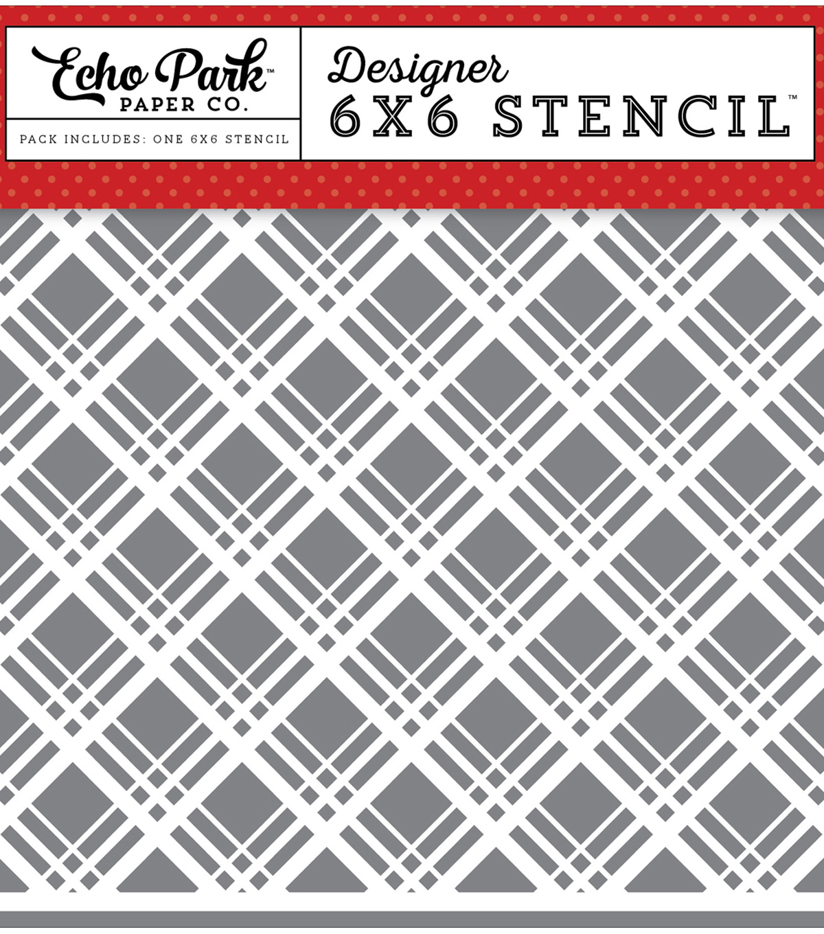 Stencil 6\u0022X6\u0022-Magic & Wonder Magical Plaid