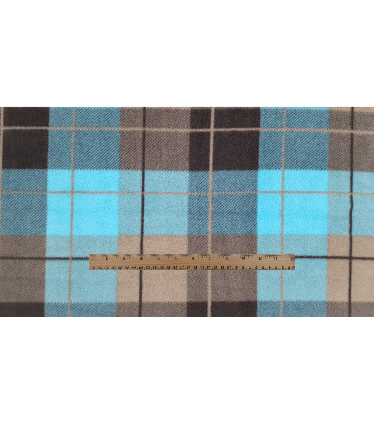 Anti-Pill Fleece Fabric 59\u0022-Hensley Teal Plaid