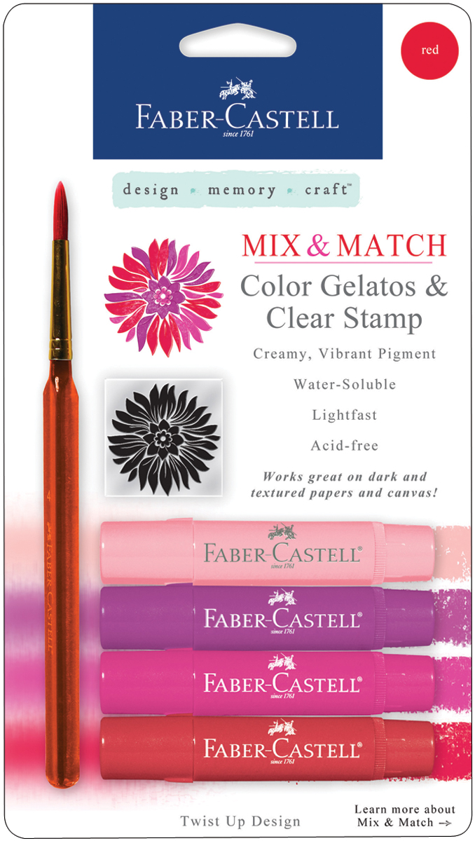 Mix&Match Gelatos&Clear Stamp Set-Red
