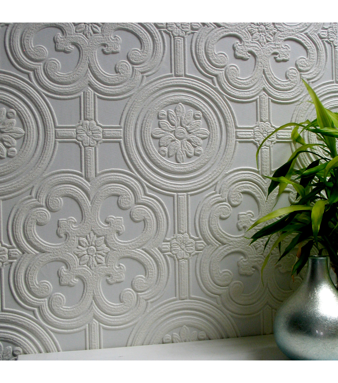 Textured paintable wallpaper - Egon Paintable Textured Vinyl Wallpaper Sample