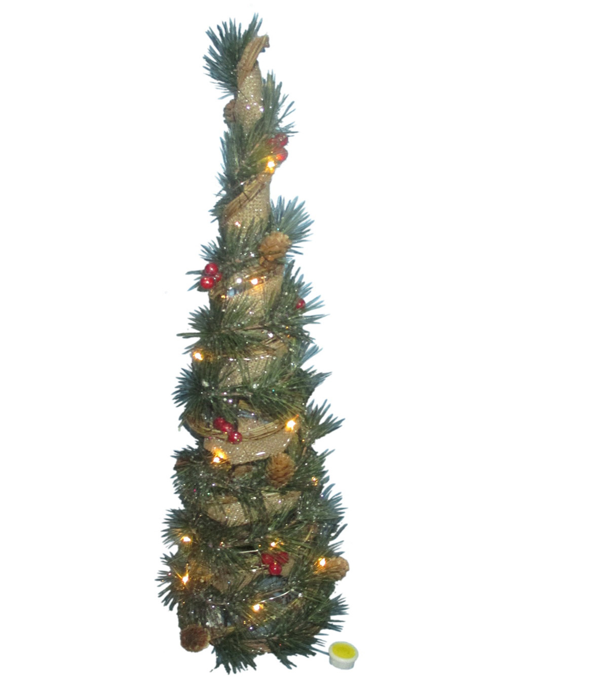 Maker\u0027s Holiday Christmas Medium Cone Tree with Lights-Natural