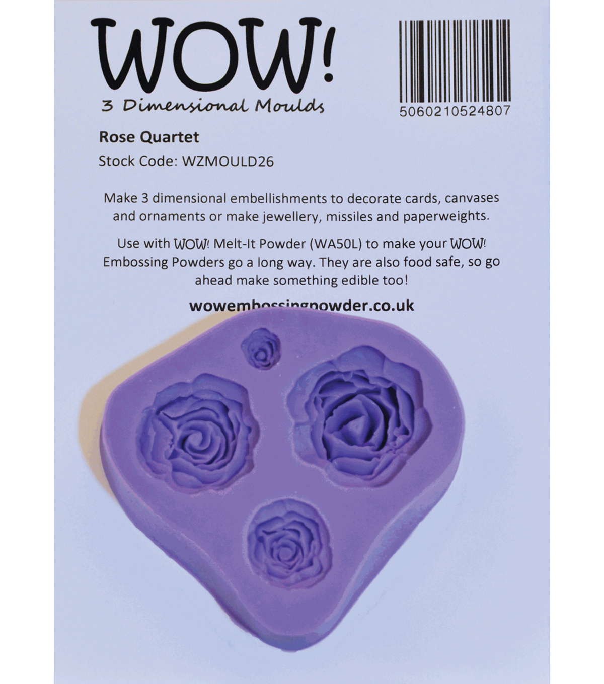 Wow! 3D Molds Rose Quartet