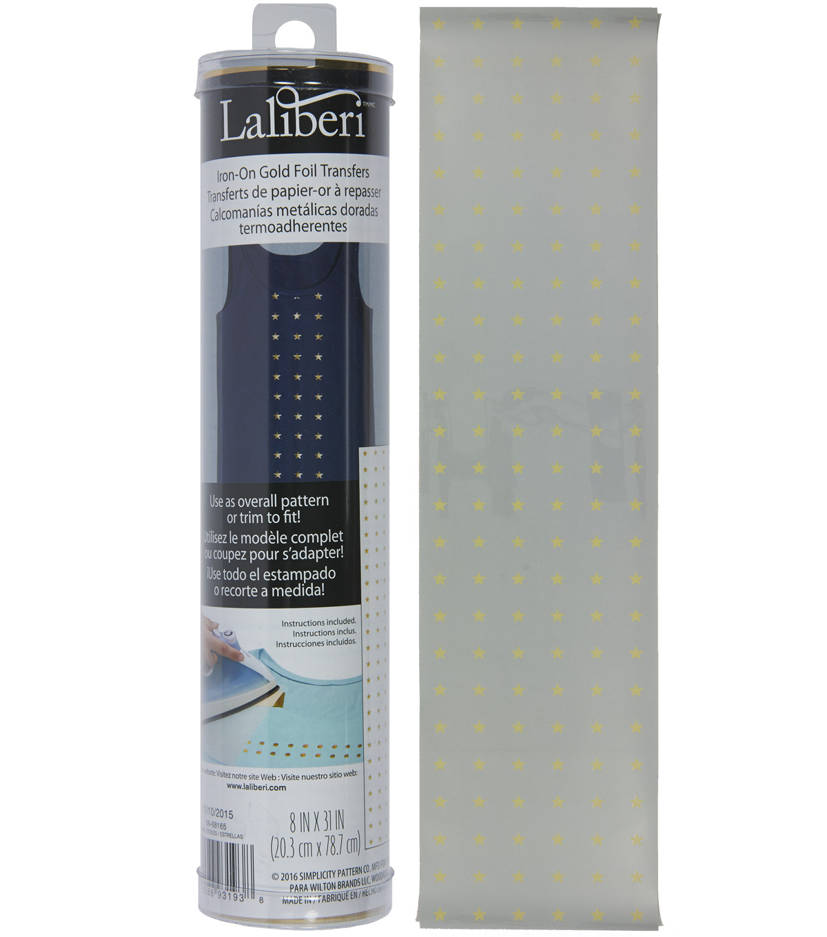 Laliberi™ Iron-On Gold Foil Transfer Roll-Stars