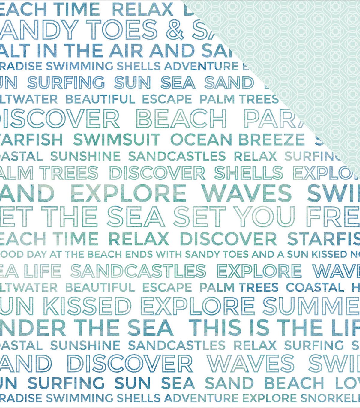 "Coastal Escape Double-Sided Cardstock 12""X12""-Discovery"
