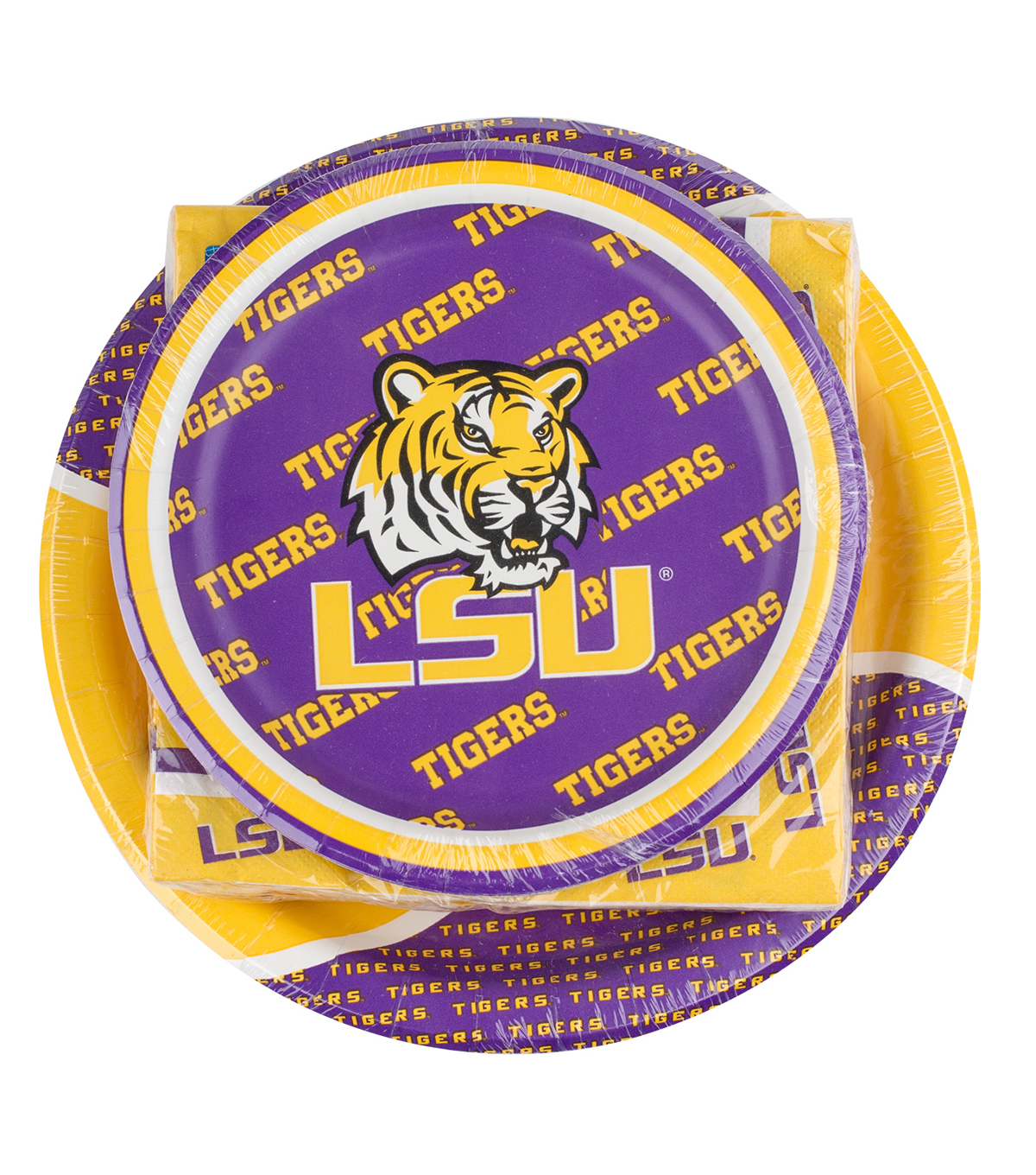 Louisiana State University Tigers Plate & Napkin Set