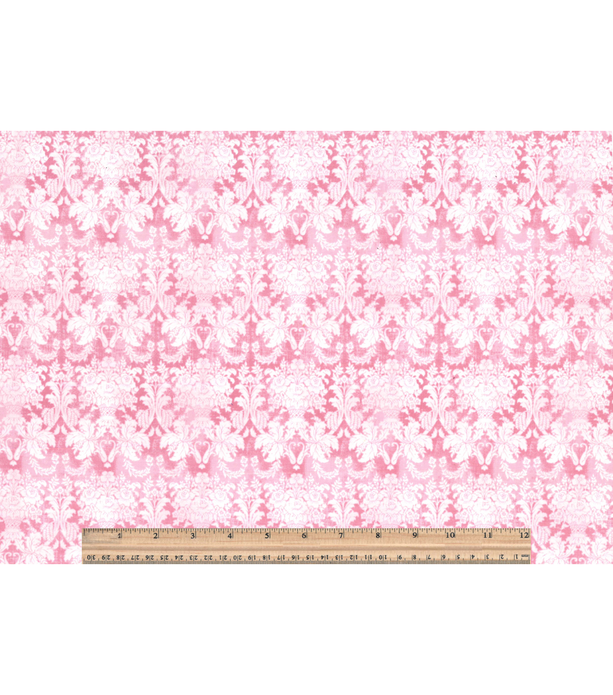 Buttercream™ Cosette Cotton Fabric 43\u0022-Damask Tonal Pink