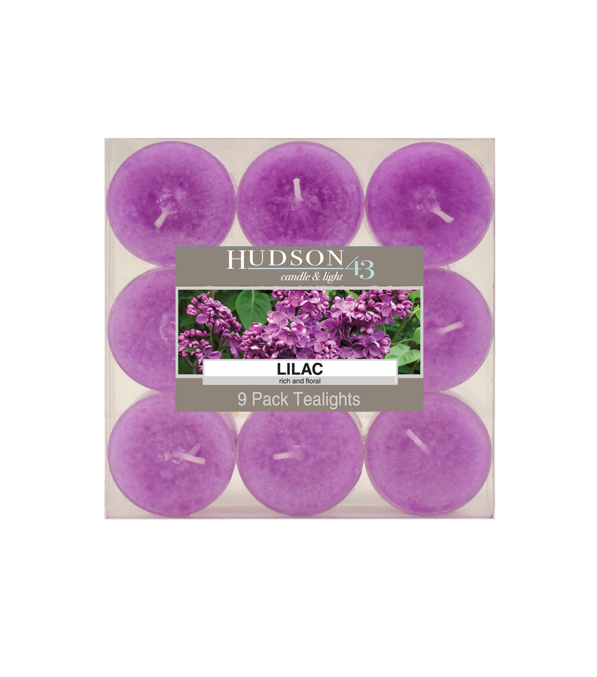 Hudson 43™ Candle & Light Collection 9 Pack Tealights Lilac