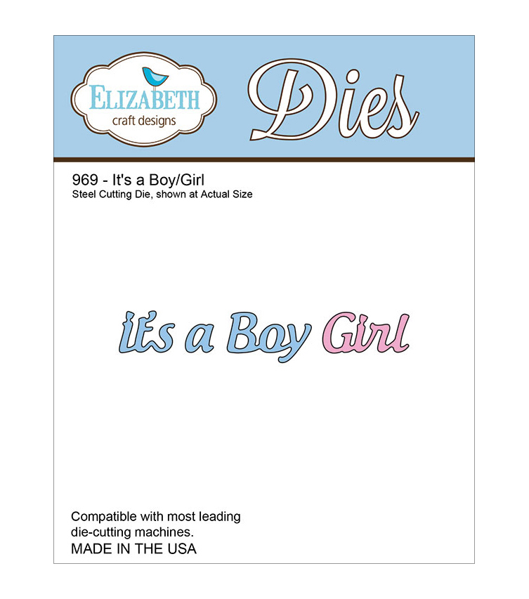 Elizabeth Craft Designs It's A Boy/Girl Metal Die