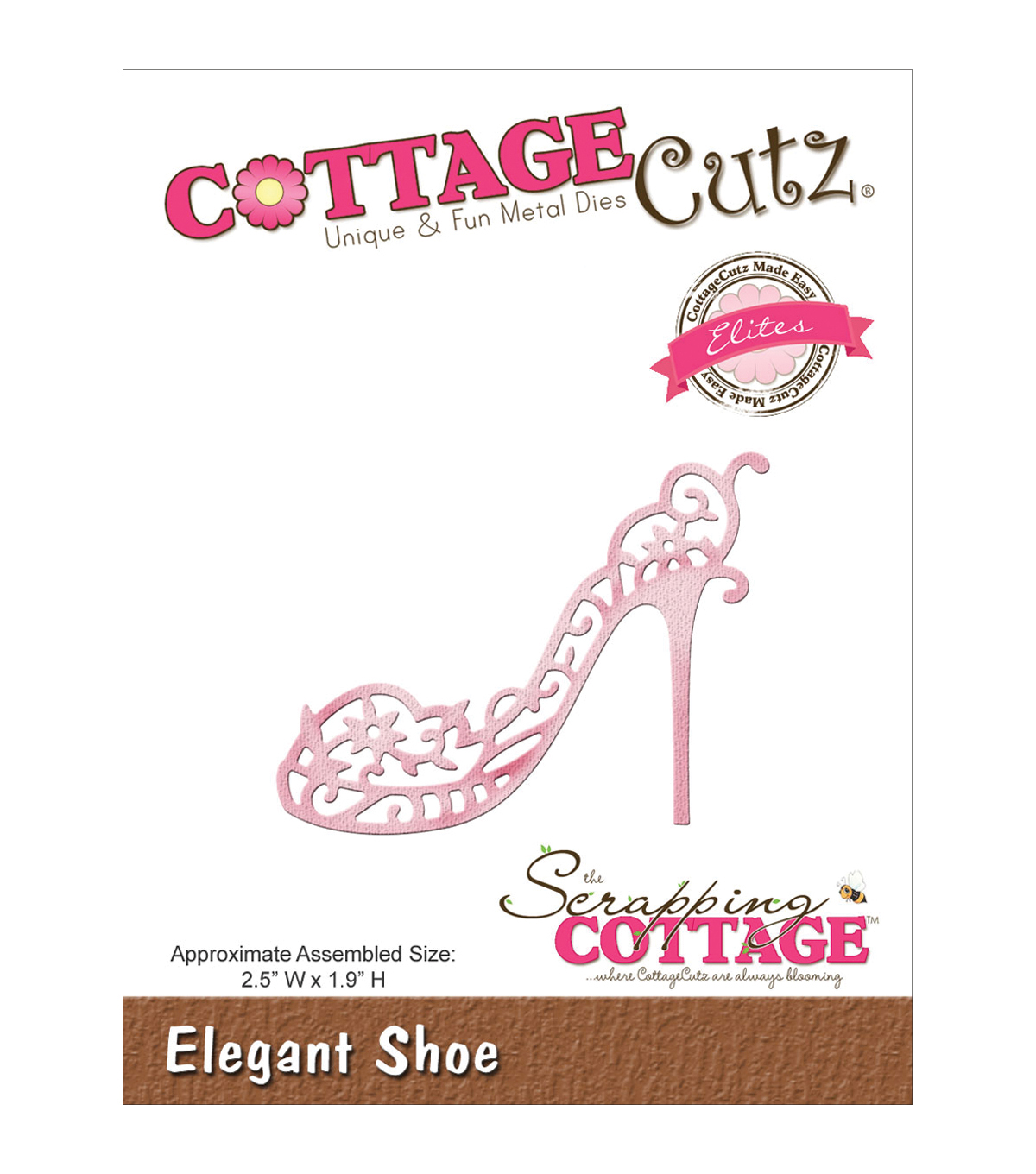 CottageCutz Elites Die 2.5\u0022X1.9\u0022-Elegant Shoes