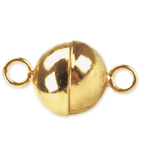 Beadalon 8mm Magnetic Clasps-Round 2 SETS/Gold Plated