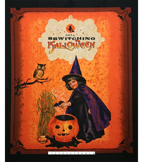 "Halloween Cotton Fabric 43""-Bewitching Hour Panel"