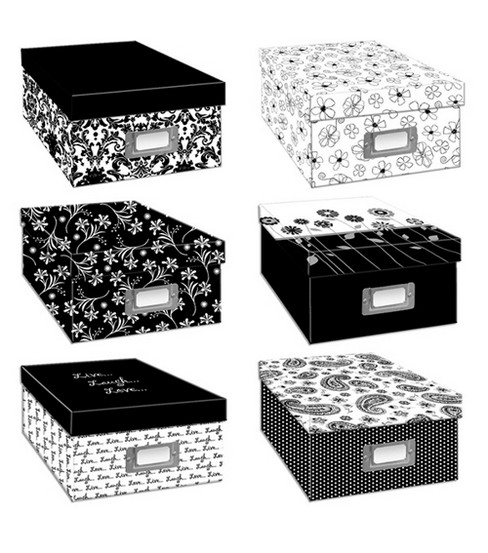 Pioneer Black U0026 White Photo Storage Box