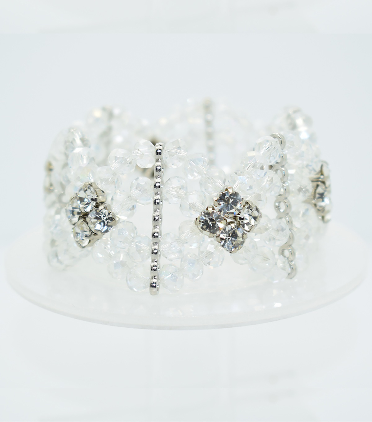 Crystal Diamond Style Bracelet-Clear Shine