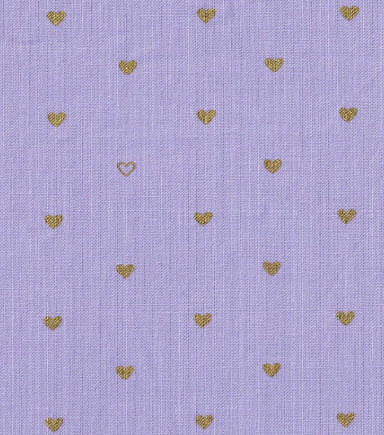 Keepsake Calico™ Cotton Fabric-Gold Metallic Hearts Purple