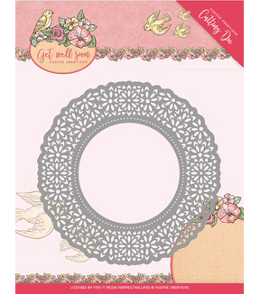 Yvonne Creations Get Well Soon 2 pk Cutting Dies-Flower Doily