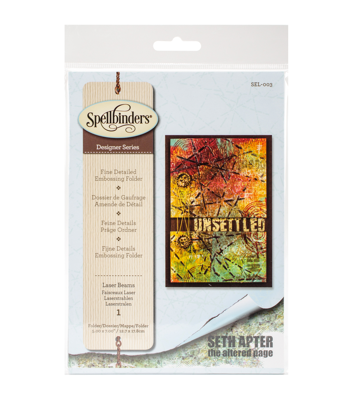 Spellbinders™ Seth Apter Large Embossing Folder-Laser Beams