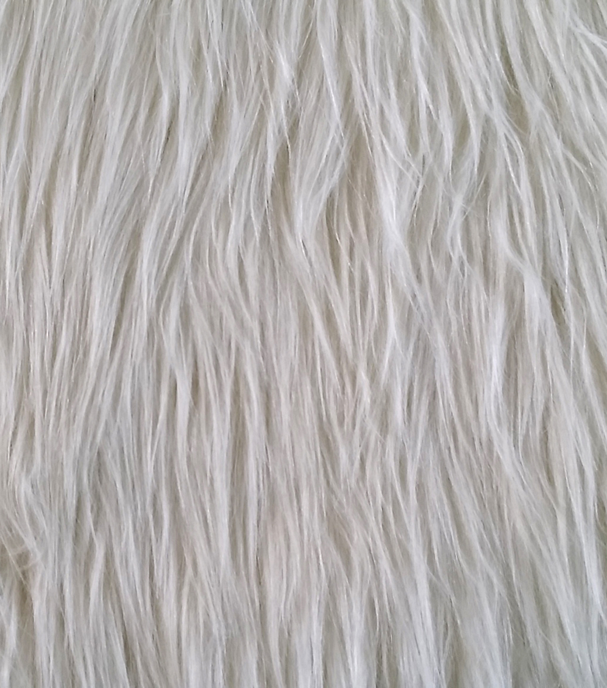 "Faux Long Hair Grizzly Fur Fabric 59""-Cream"