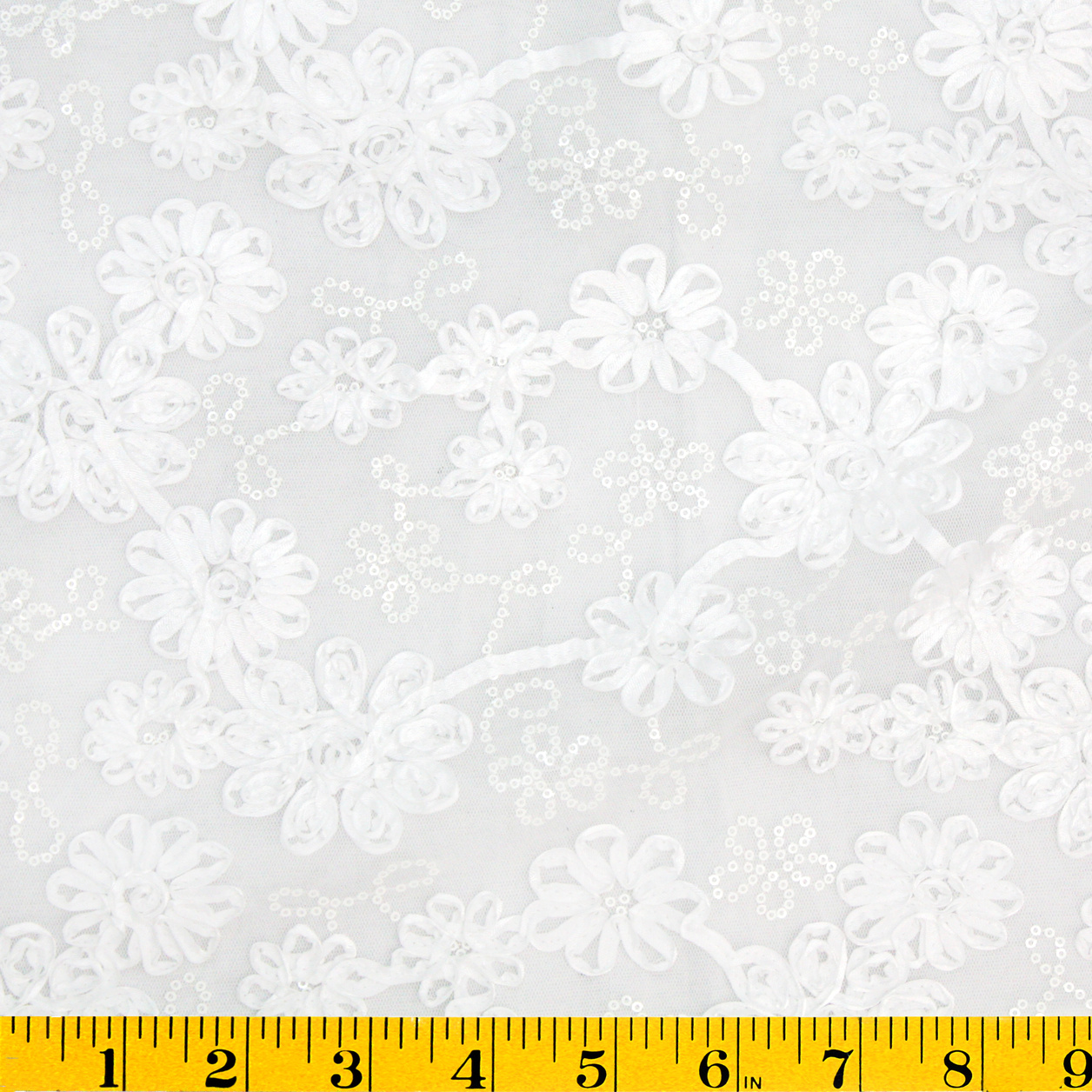"David Tutera™ Celebrate Sequined Mesh Fabric 61""-White"