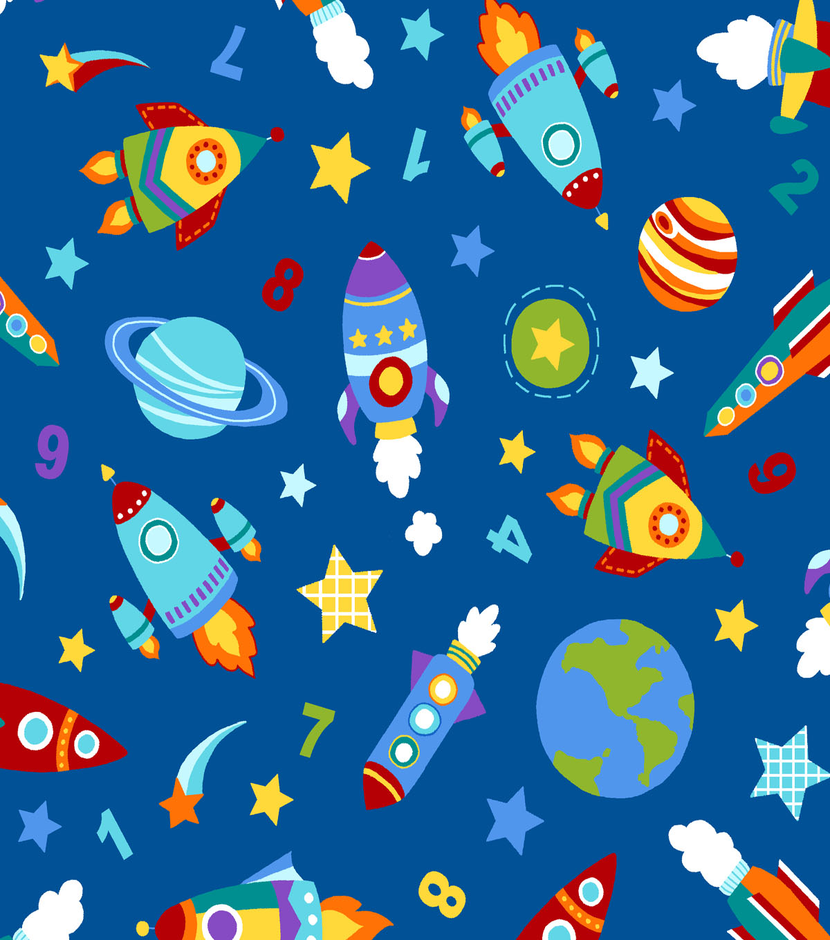 doodles collection fabric twill rockets blue joann