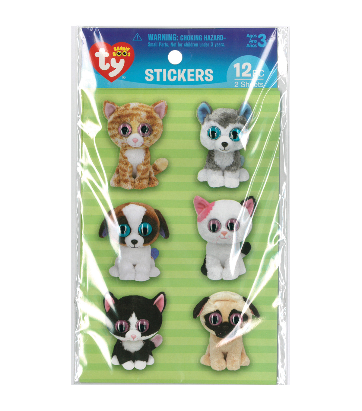Darice® Beanie Boo 12pcs Wiggle Eye Stickers-Pet