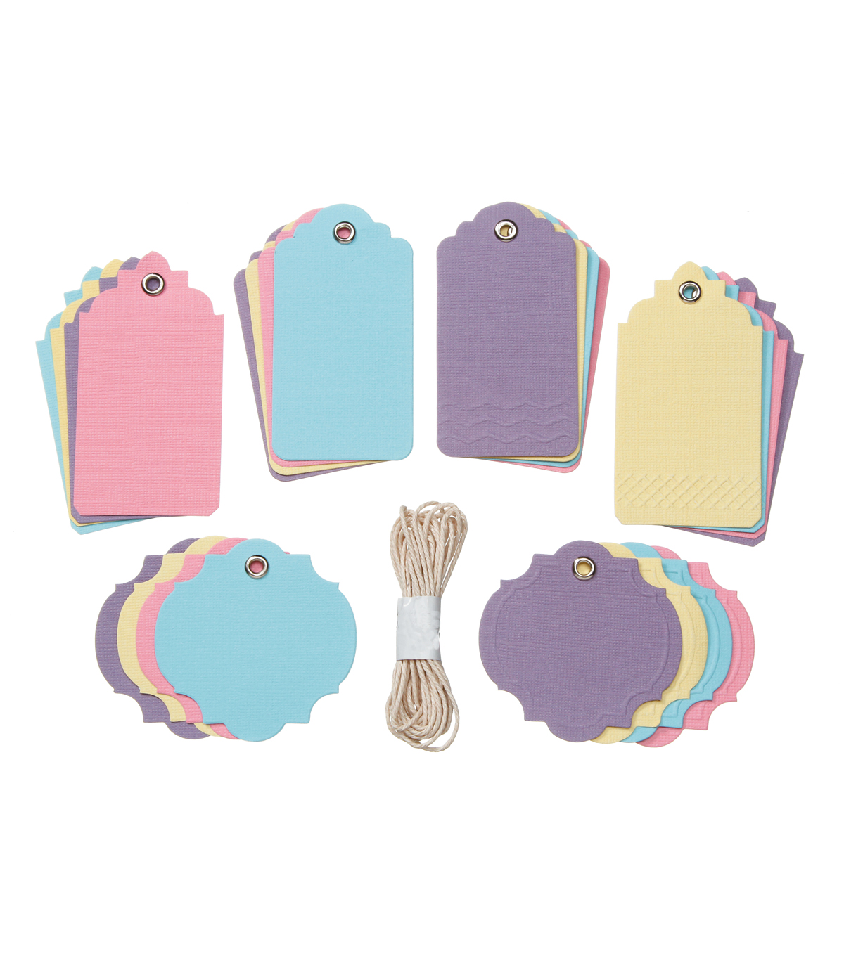 Core\u0027dinations Tags:  Pastels Assortment with String; 24 pack