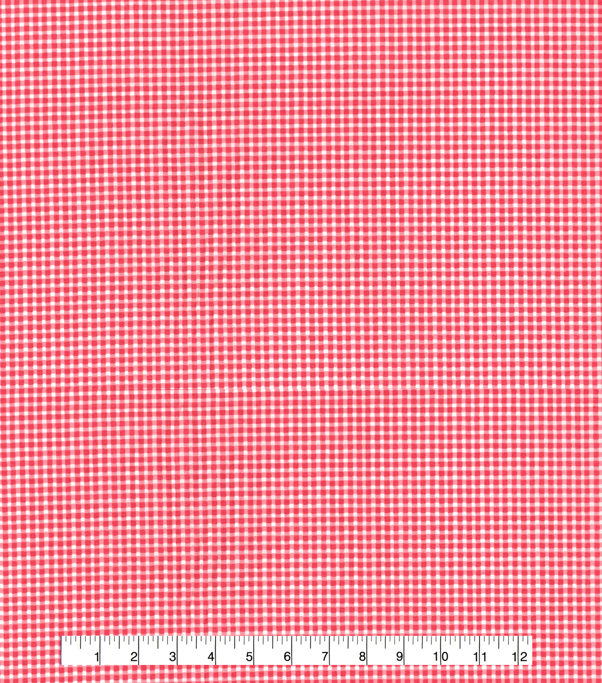 Made In America Cotton Fabric 44\u0027\u0027-Red Gingham
