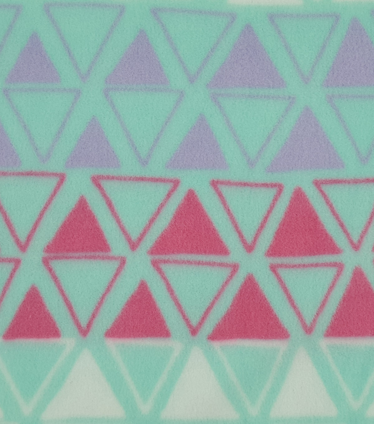 Anti-Pill Fleece Fabric 59\u0022-Pastel Sketched Triangles