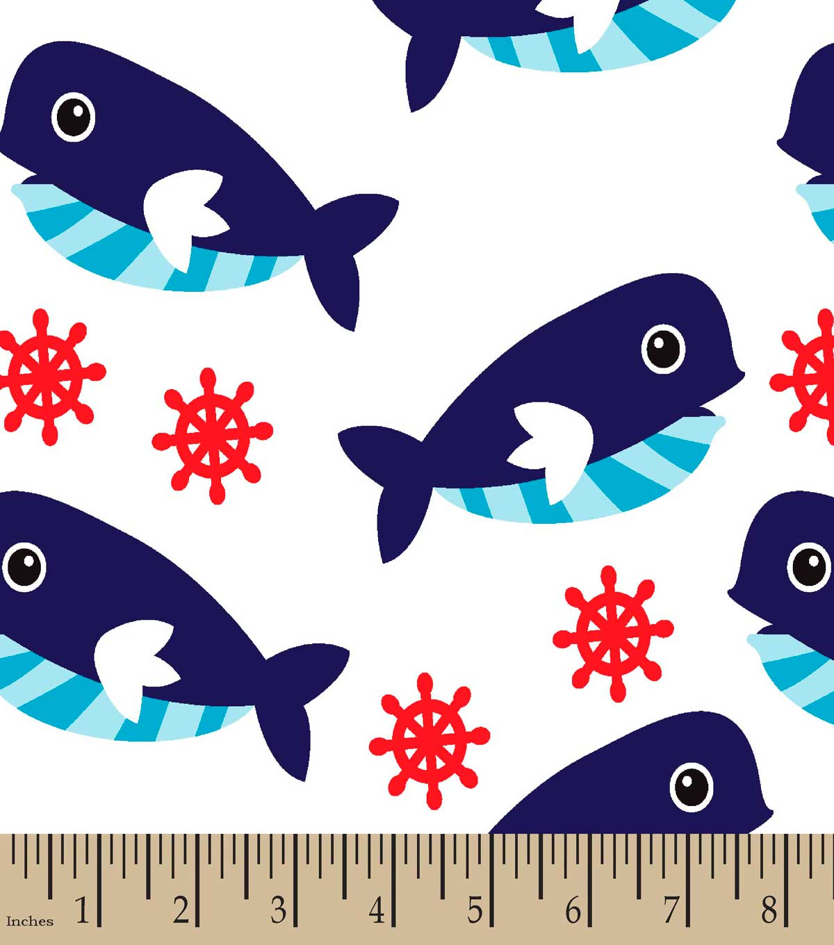 Whale of a Time Print Fabric