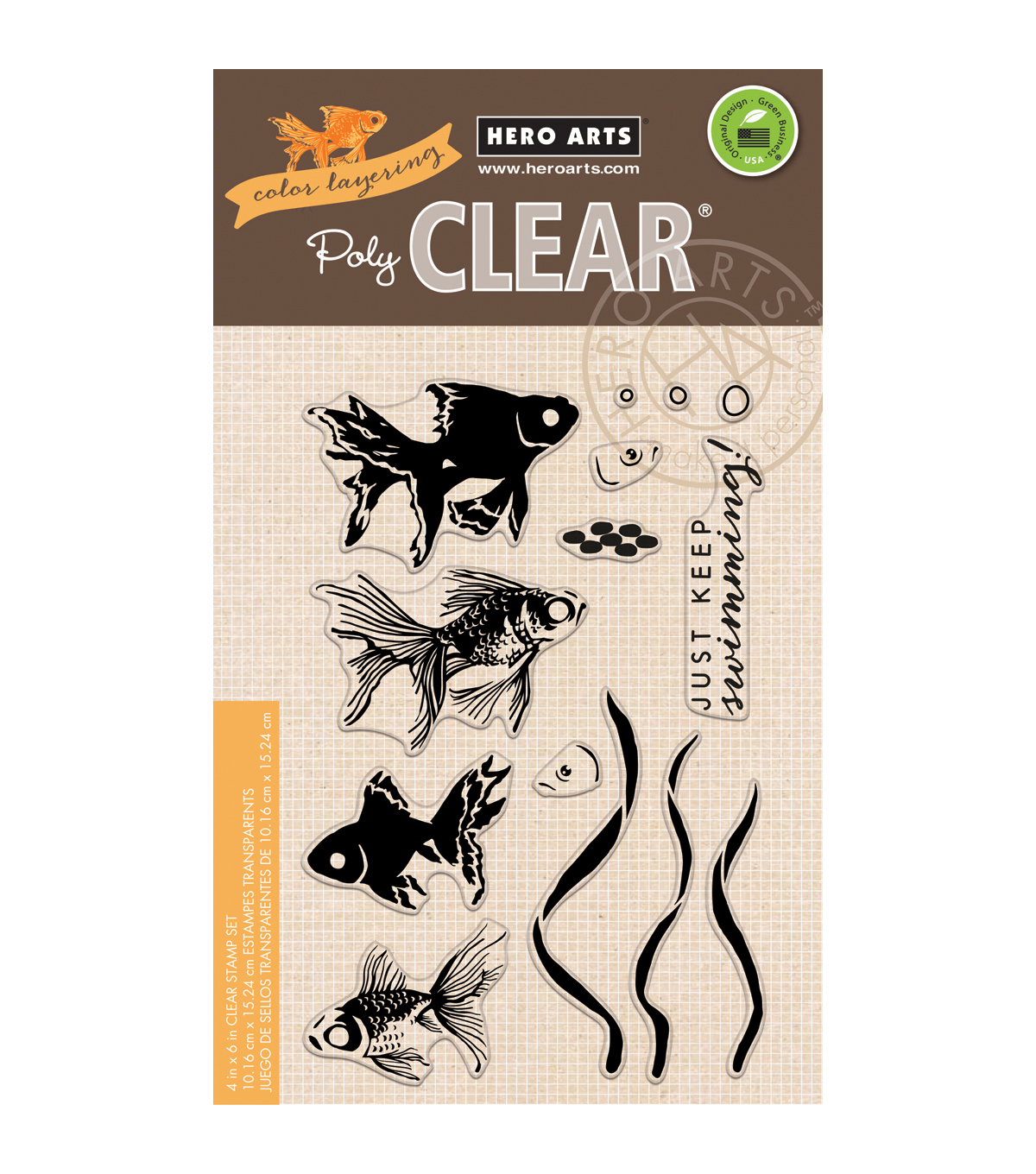 Hero Arts® 4''x6'' Clear Stamps-Color Layering Goldfish