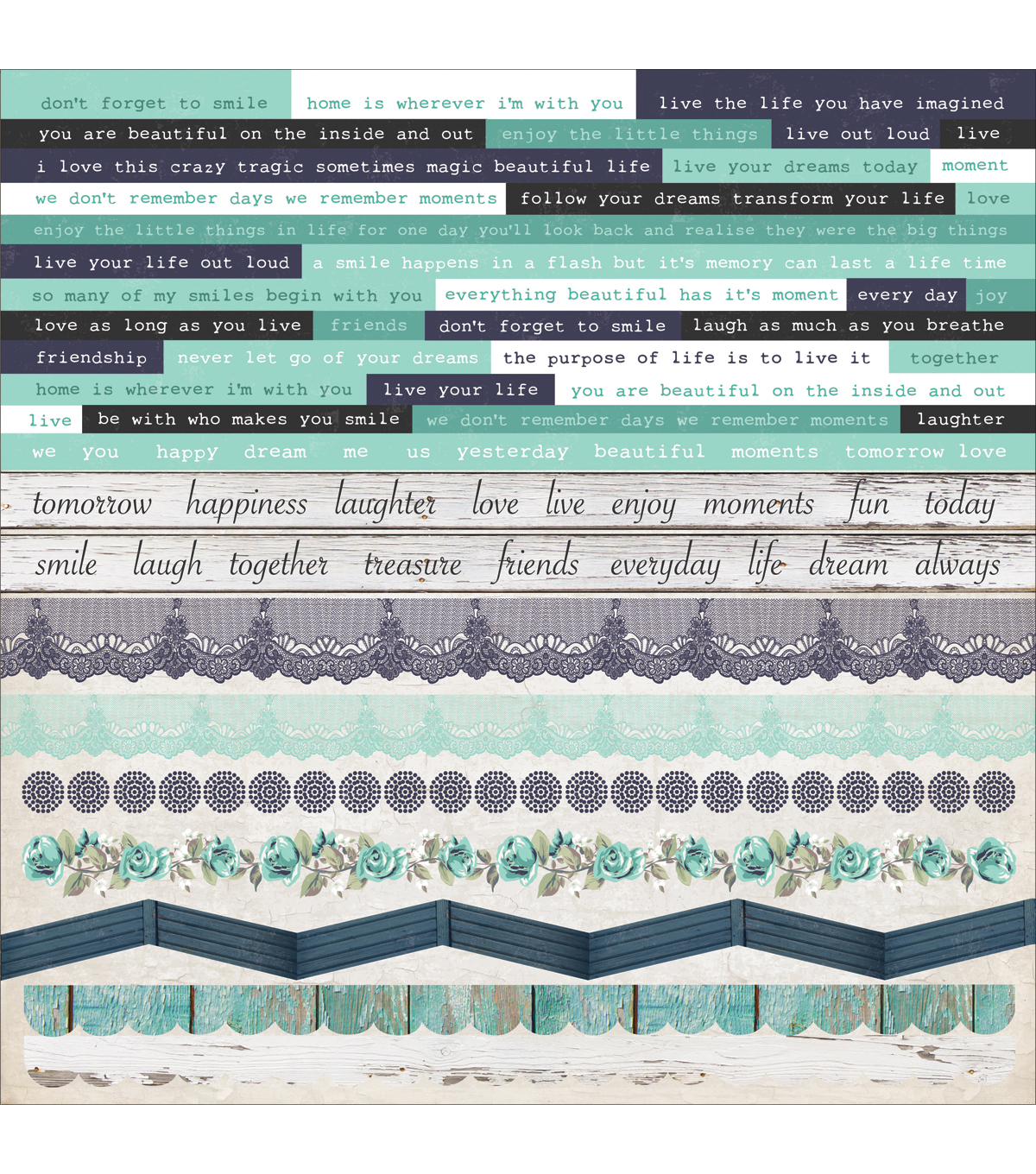 Kaisercraft Blue Bay Cardstock Stickers 12\u0027\u0027x12\u0027\u0027