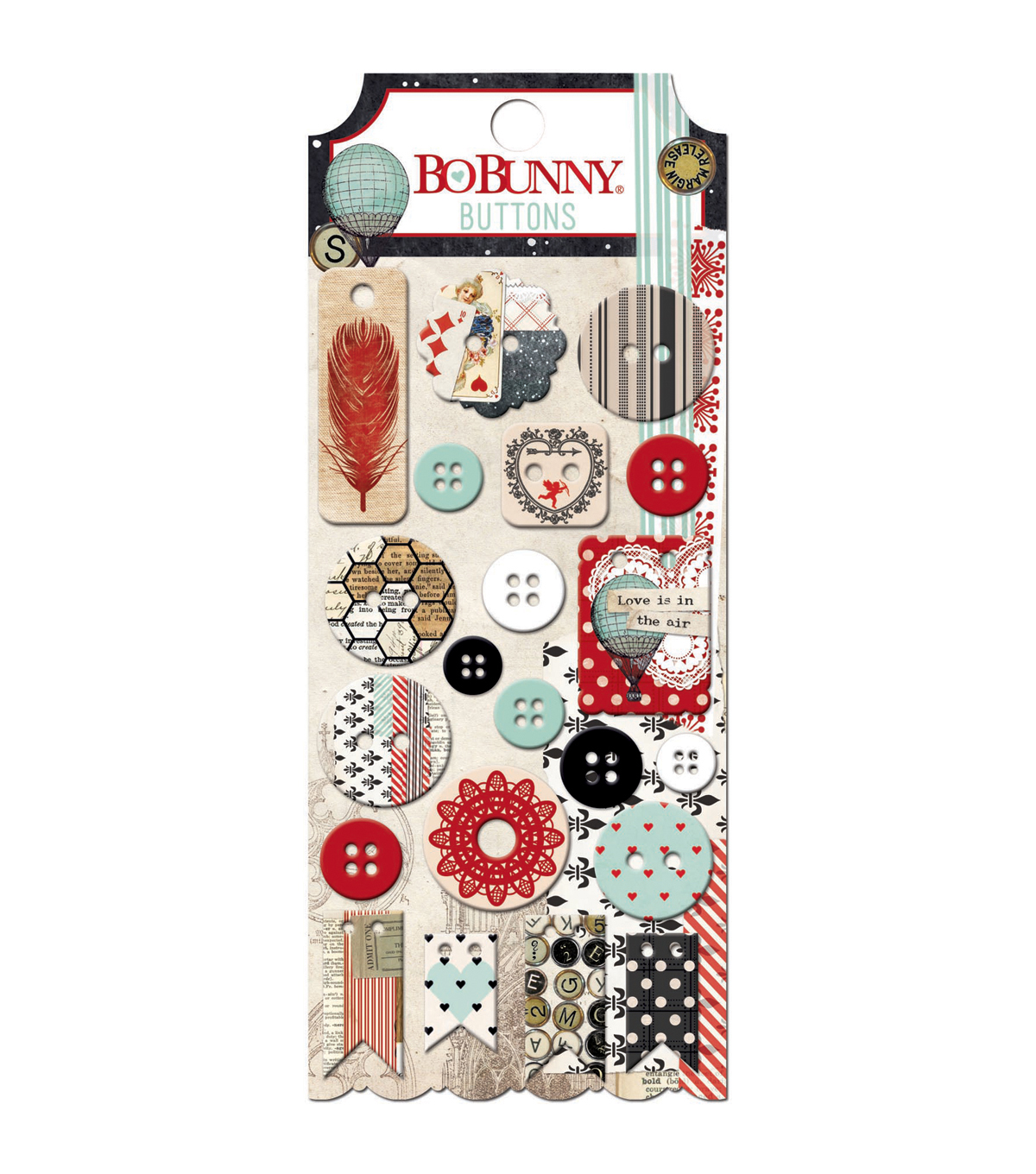 Bo Bunny Star-Crossed Plastic & Chipboard Buttons