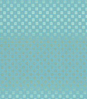 Asian Inspired Cotton Fabric 43\u0027\u0027-Metallic Diamond Dots on Teal