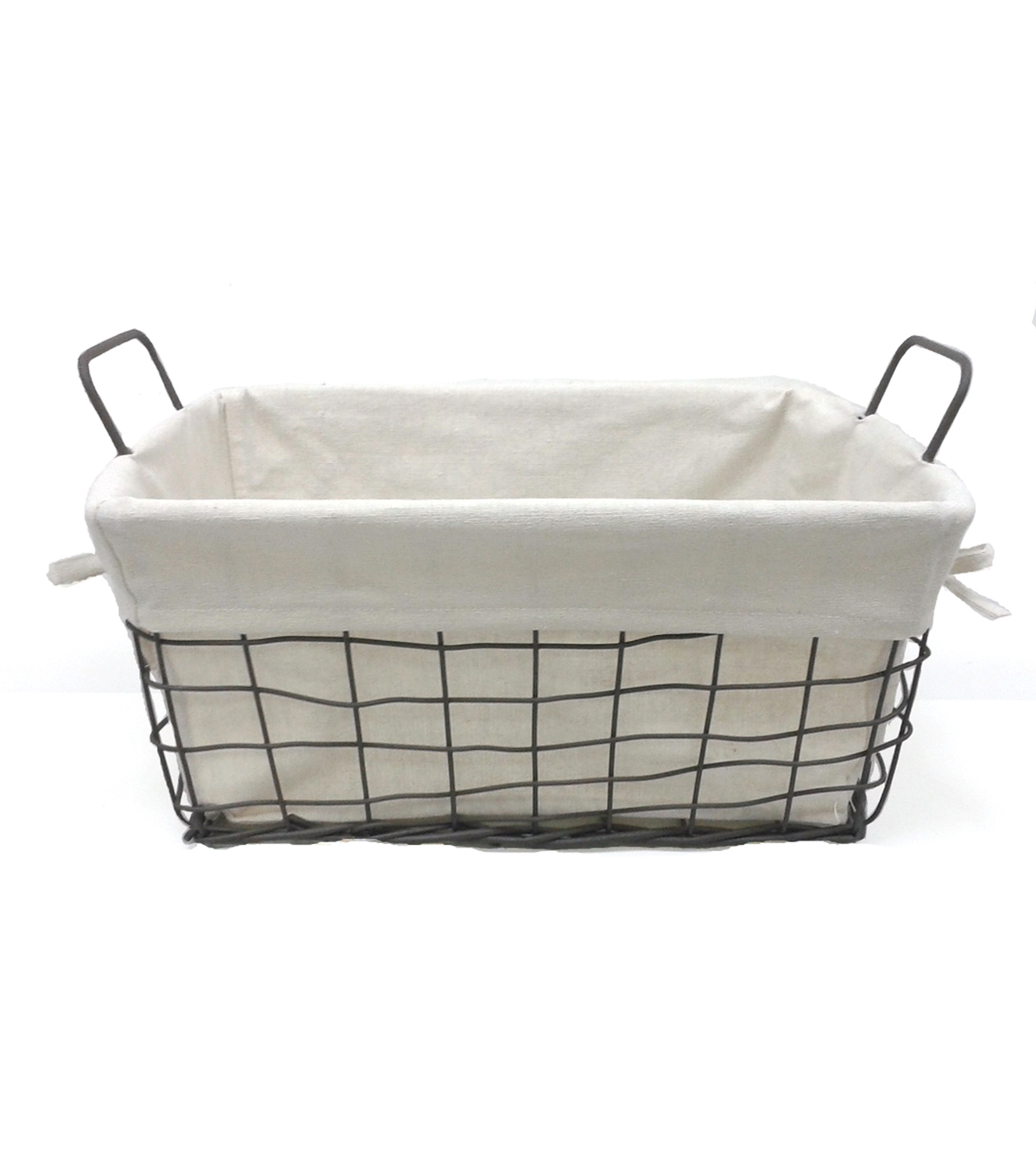 Organizing Essentials™ 8x8 Wire Basket with Ivory Liner