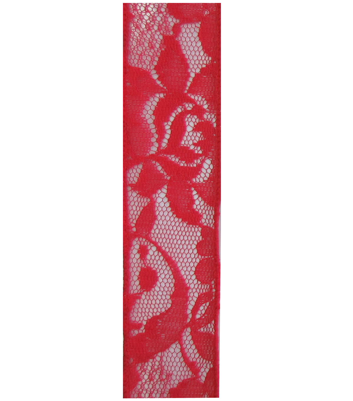 Decorative Ribbon 1.5\u0027\u0027x15\u0027 Lace Ribbon-Red