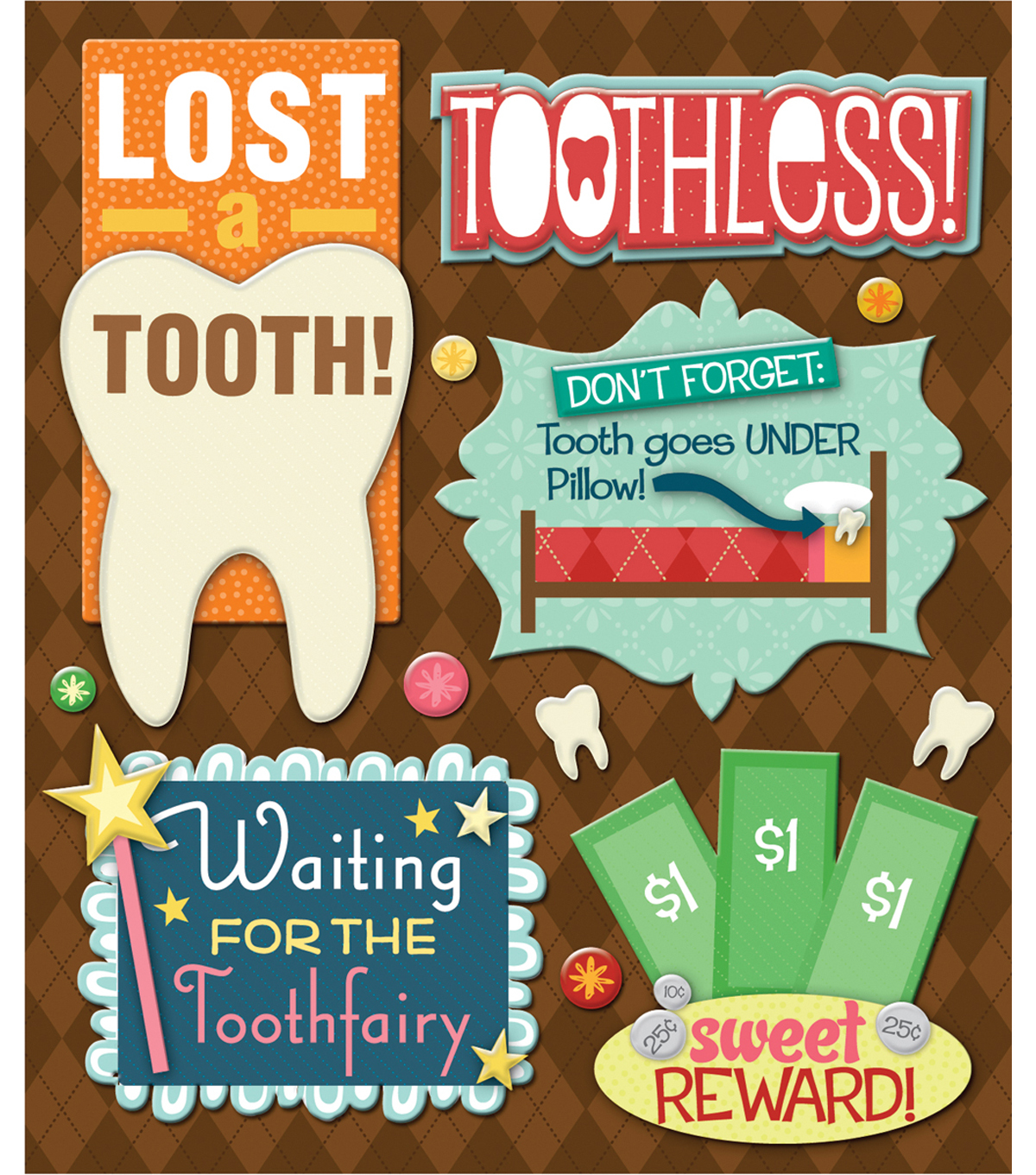 Sticker Medley-Losing A Tooth