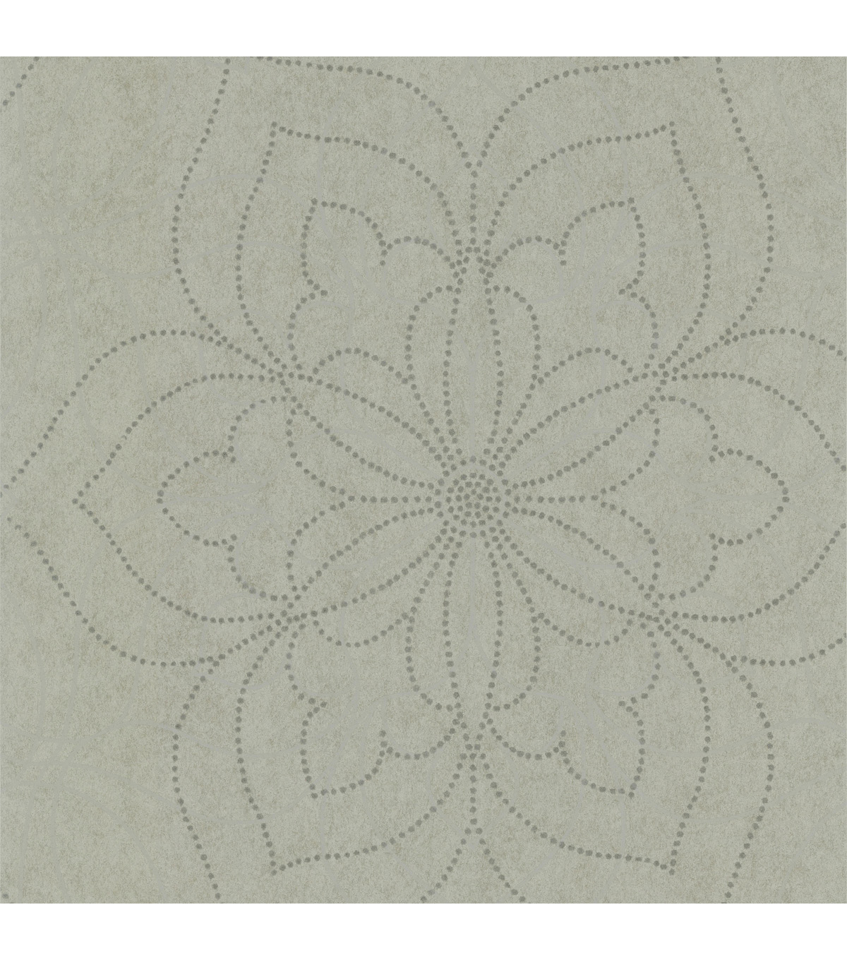 Charlotte Silver Modern Floral Wallpaper Sample