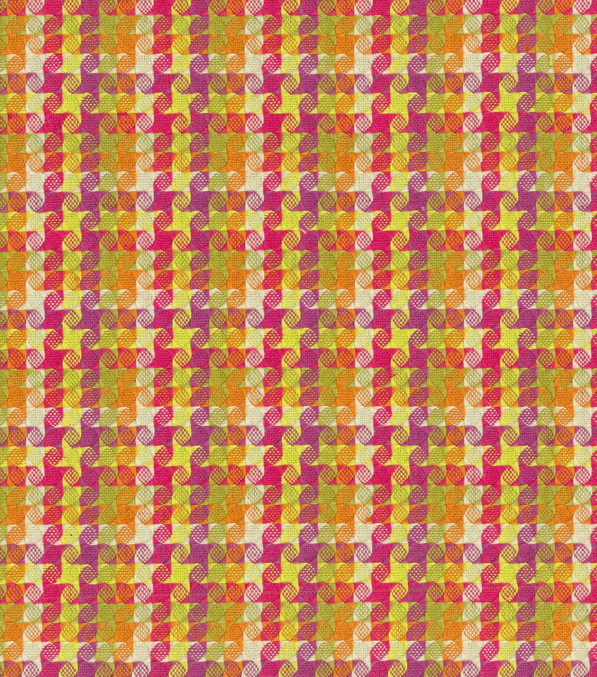 "Home Decor 8""x8"" Fabric Swatch-HGTV Home Checkered Past Berry"