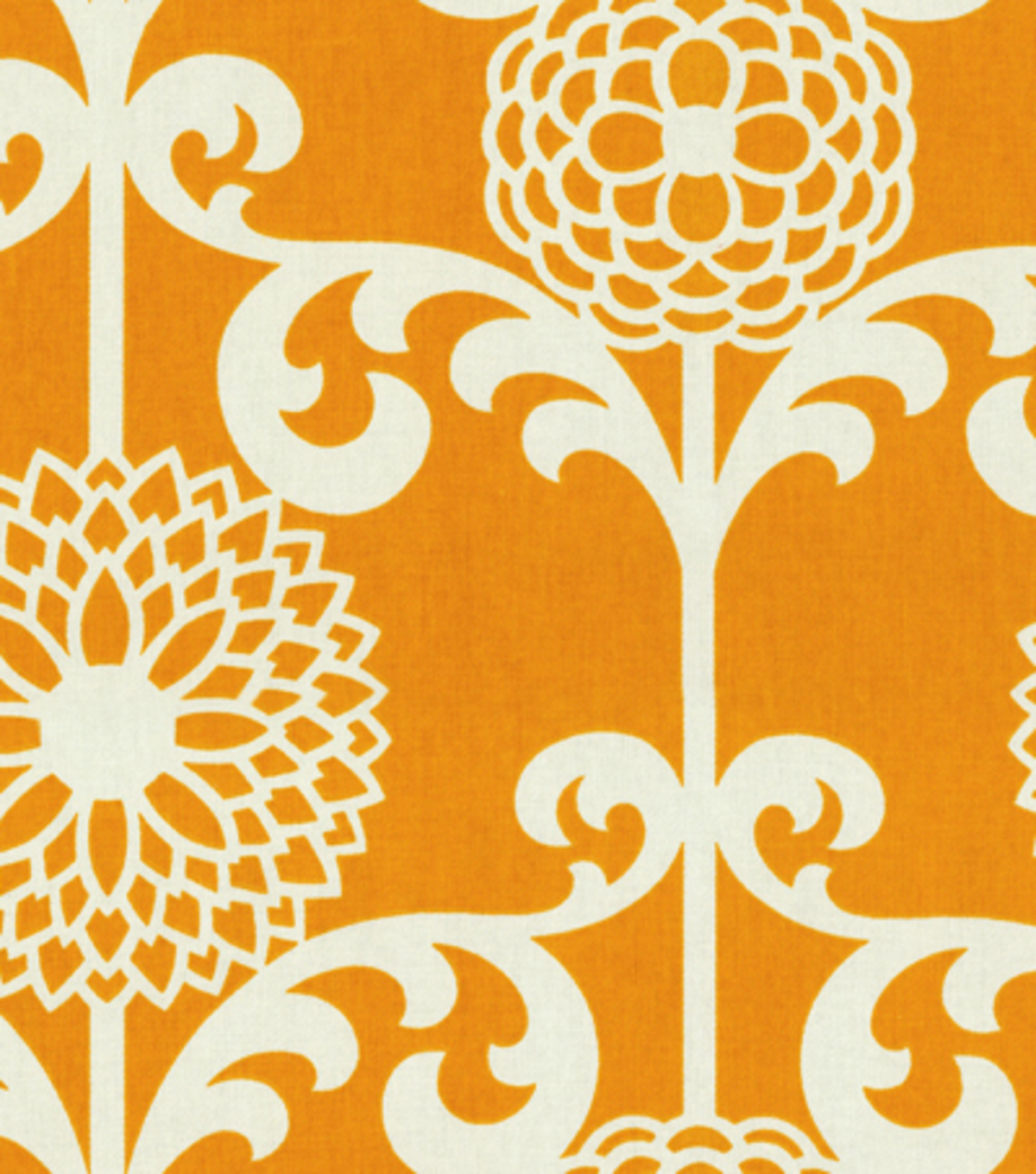 Home Decor 8\u0022x8\u0022 Fabric Swatch-Waverly Fun Floret Citrus Orange