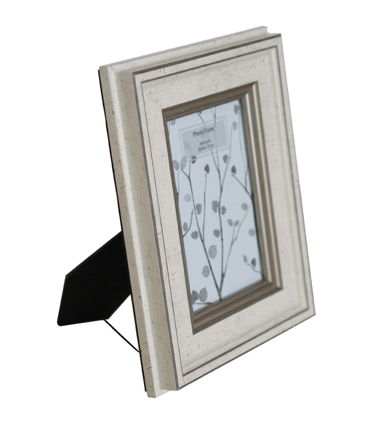 Wooden Tabletop Frame 4\u0027\u0027x6\u0027\u0027-Cream & Silver