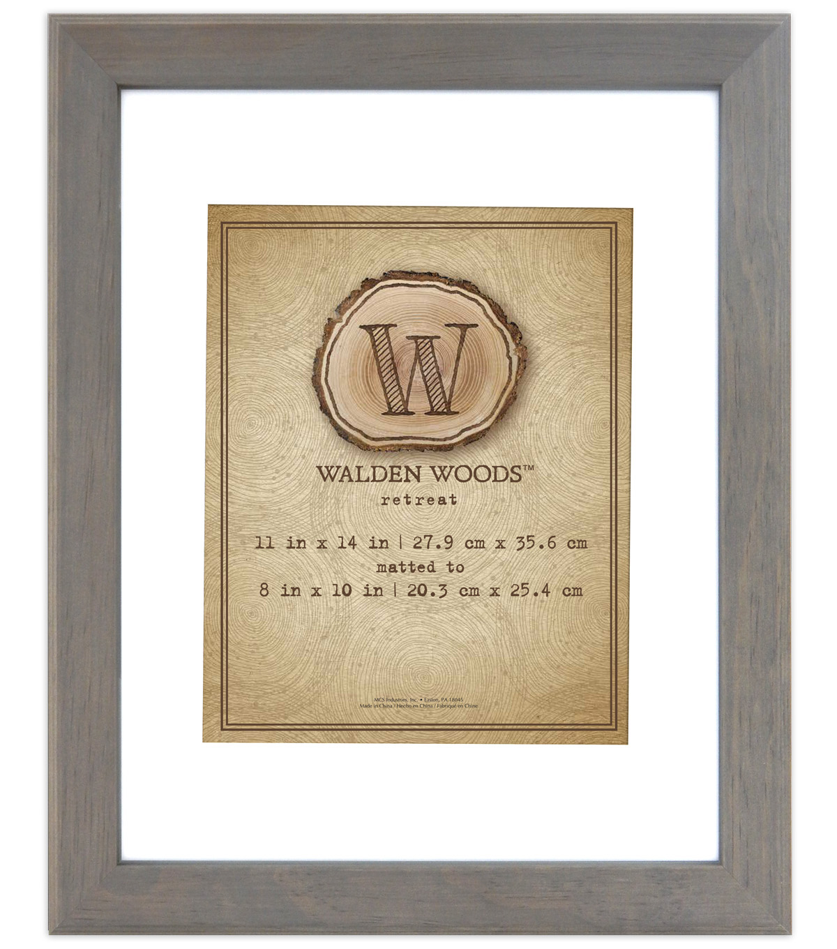 Walden Woods Wall Frame 11X14 To 8X10-Gray