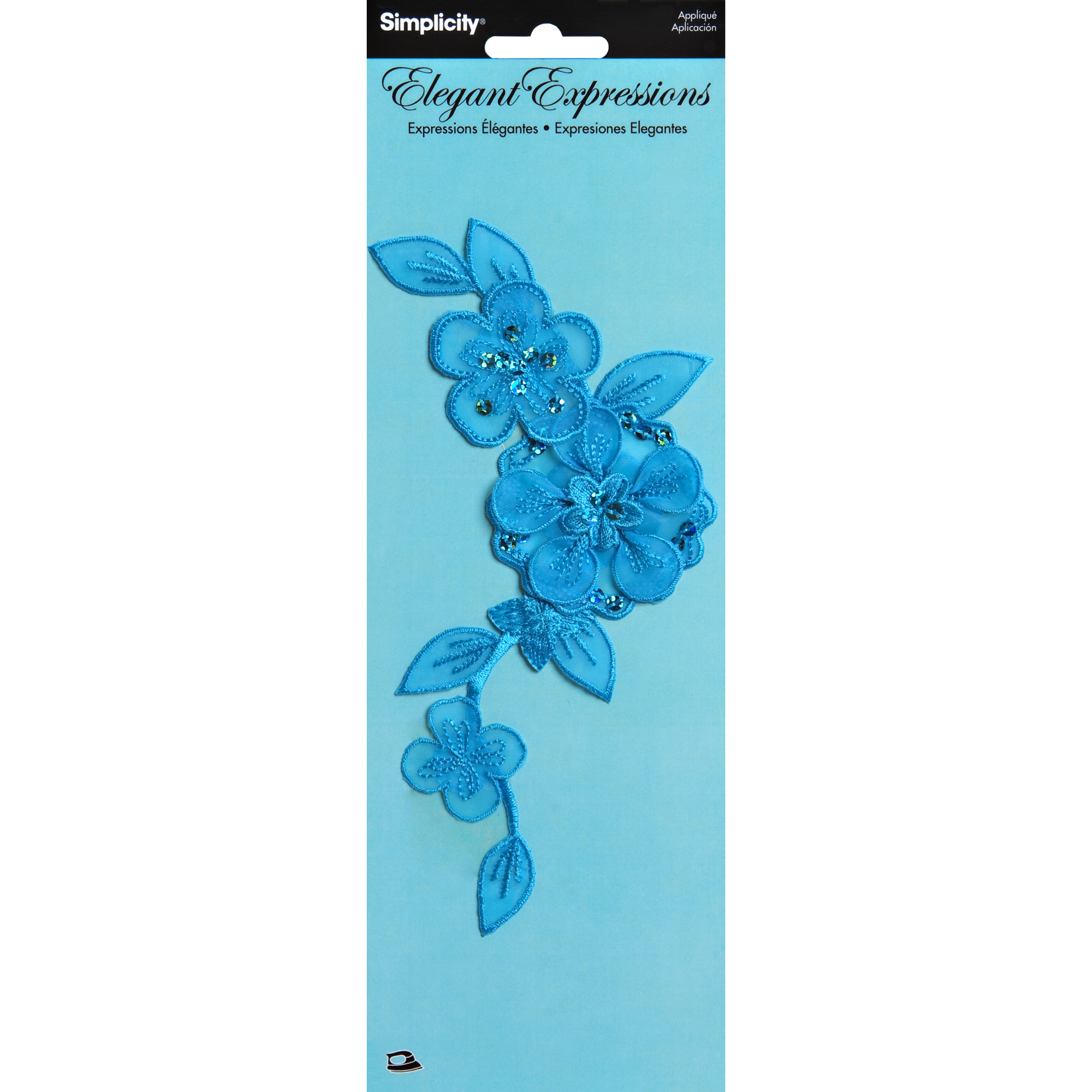 Aplg Sheer Flower On Vine Blue