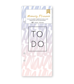American Crafts™ Memory Planner Insert Pad-To Do