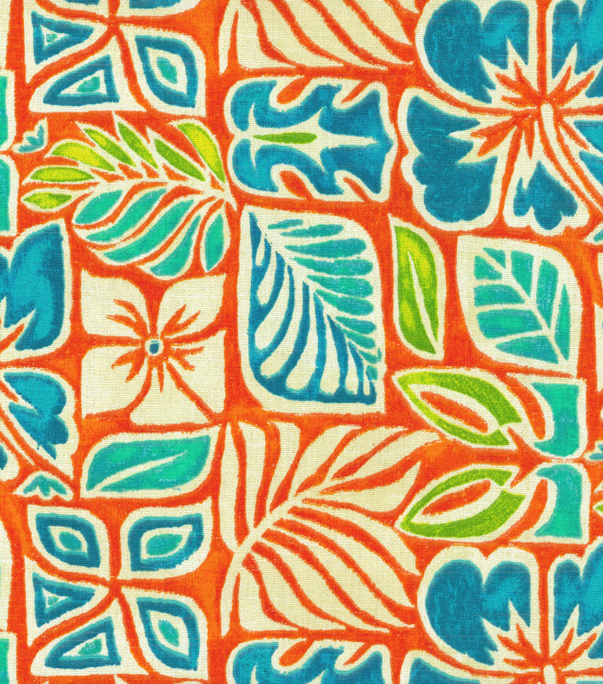 Tommy Bahama Print Fabric-Sun Blocks/Coral Reef