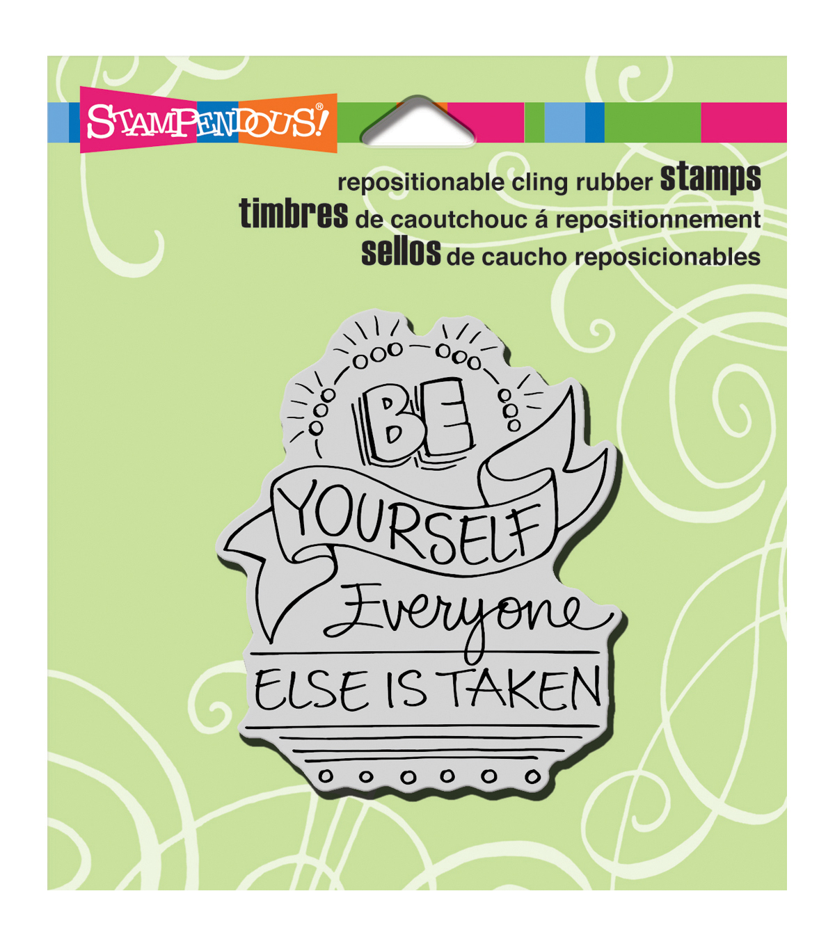 Be Yourslf-cling Rubber Stamp
